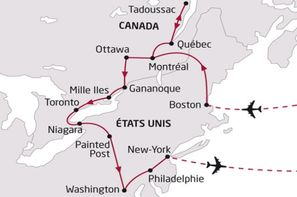 Etats-Unis-Boston, Circuit Canada et USA