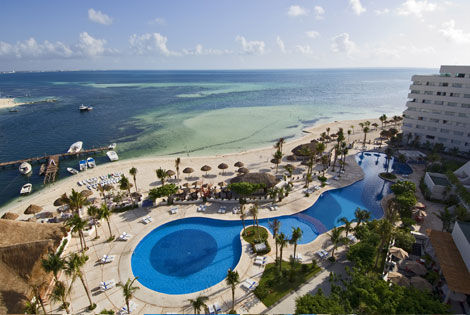 Vue panoramique - Oasis Palm Beach + Colibri Combiné hôtels Oasis Palm Beach + Colibri Cancun Mexique
