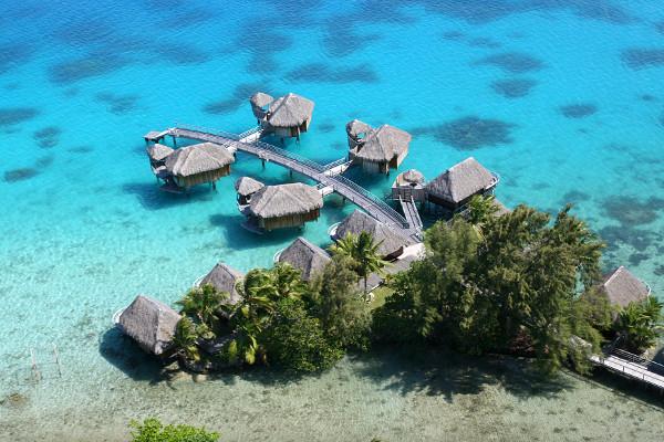 Vue arienne pilotis - Sofitel marara Bora bora - Trois îles au Pearl et Sofitel : Tahiti, Moorea et Bora Bora Combiné hôtels Trois îles au Pearl et Sofitel : Tahiti, Moorea et Bora Bora Papeete Polynesie Francaise