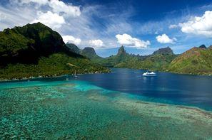 Polynesie Francaise-Tahiti, Combiné hôtels 4 Îles Tahiti, Moorea, Huahine, Bora Bora : Hôtels Tahiti Nui 3* + Hibiscus Moorea 2* + Maitai La Pita 3* + Maitai Polynesia 3*
