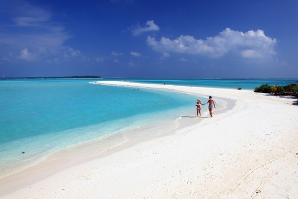 Plage du Sun Island aux Maldives - Sri Lanka Authentique + Maldives au Sun Island Combiné circuit et hôtel Sri Lanka Authentique + Maldives au Sun Island Colombo Sri Lanka