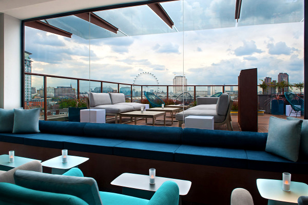 Terrasse du bar - H10 London Waterloo Hôtel H10 London Waterloo4* Londres Angleterre