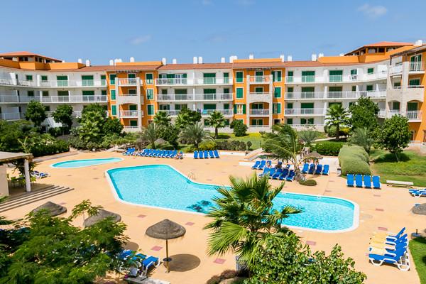 Vue piscine - animé Agua Vila Verde Hôtel animé Agua Vila Verde4* Ile de Sal Cap Vert