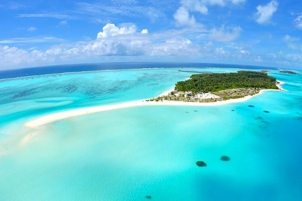 Vue aérienne de l'île - Sun Island Resort Sun Island Resort en Water Villa Male Maldives