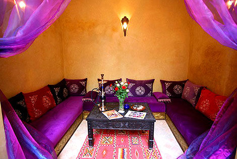 salon marocain au Riad Bahia - à Marrakech Riad à Marrakech Marrakech Maroc