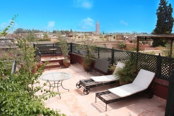 Terrasse - Dromadaire Bleu Riad Dromadaire Bleu Marrakech Maroc
