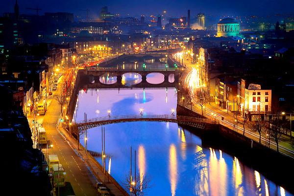 Dublin la nuit Autotour Le Meilleur de l'Irlande Dublin Irlande