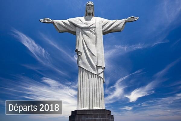 Statue du Christ Rédempteur Rio Circuit Indispensable Brésil Salvador De Bahia Bresil