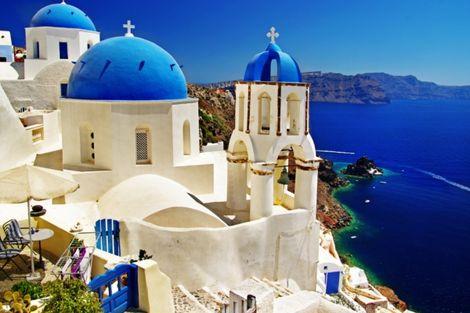 Grèce : Les Cyclades-Ile d'Andros, Circuit Combiné 3 îles : Mykonos - Paros - Santorin en 15 jours 2*