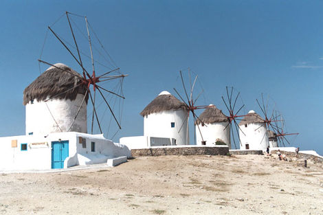 Grèce : Les Cyclades-Ile d'Andros, Circuit Combiné 3 îles Mykonos - Paros - Santorin en 15 jours 3*
