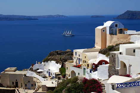 Grèce : Les Cyclades-Ile d'Andros, Circuit Combiné 2 îles : Paros - Santorin en 8 jours 3*