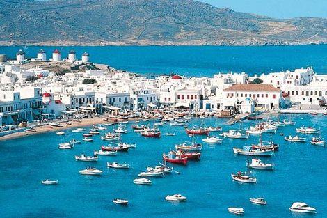 Grece-Athenes, Circuit Périples dans les Cyclades depuis Athènes - Mykonos et Santorin 3*