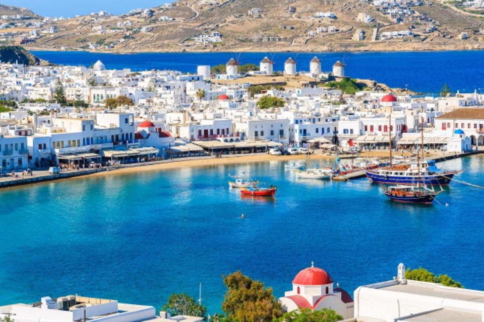 Circuit Périples dans les Cyclades depuis Santorin - Santorin, Mykonos, Naxos, et Paros Santorin Iles Grecques