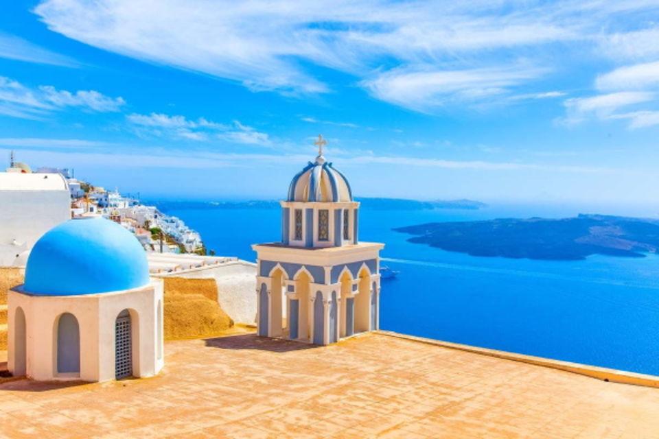 Circuit Périple dans les Cyclades depuis Santorin - Santorin, Naxos, Amorgos, et Paros Santorin Iles Grecques