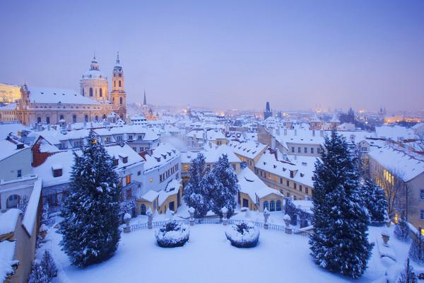Prague sous la neige Hôtel Saint Sylvestre Prague4* Prague Republique Tcheque