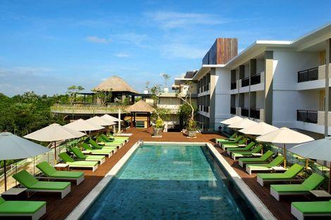 Bali-Denpasar, Combiné hôtels - Balnéaire à l'hôtel Away Bali Legian Camakila 4* + Sthala, a Tribute Portfolio Hotel 5* à Ubud