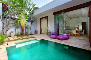 Bali-Denpasar, Hôtel Balnéaire au Anema Villa Seminyak + Abirama Ubud Villa 4*