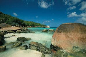 Seychelles-Mahe, Combiné hôtels 2 ILES : CERF ISLAND RESORT + PARADISE SUN 4*