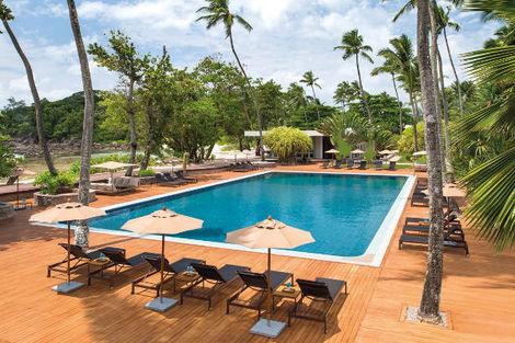 Seychelles-Praslin, Combiné hôtels 3 Iles : Praslin + La Digue + Mahé : Indian Ocean Lodge + La Digue Lodge + Avani Seychelles Barbarons