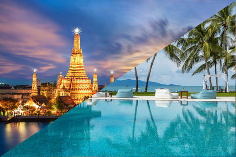 Thailande-Bangkok, Combiné hôtels - Court séjour Bangkok & Koh Samui au Samui Palm Beach 4*