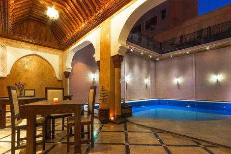 Maroc-Marrakech, Hôtel Marrakech House 3*