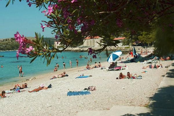 Plage - Mlini Hôtel Mlini2* Dubrovnik Croatie
