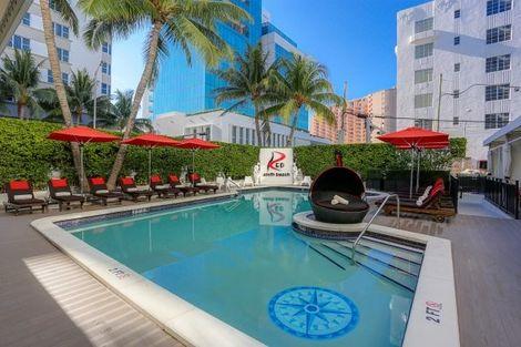 Etats-Unis-Miami, Hôtel Red South Beach 3* sup