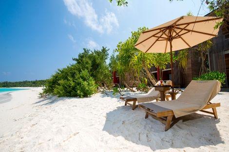 Maldives-Male, Hôtel The Barefoot Eco Hotel 4*