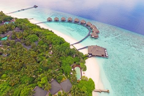 Maldives-Male, Hôtel Adaaran Select Meedhupparu 4*
