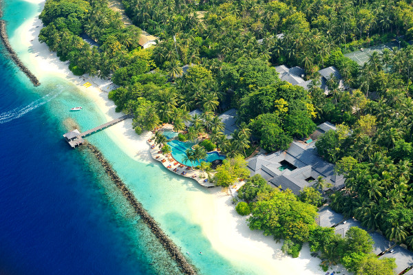 Vue aérienne - Royal Island Hotel Royal Island5* Male Maldives