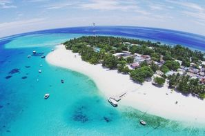 Maldives-Male, Hôtel Thundi Gest House 3*