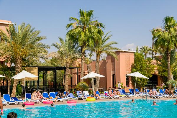 Piscine Hôtel Maxi Club Labranda Targa Aqua Parc4* Marrakech Maroc
