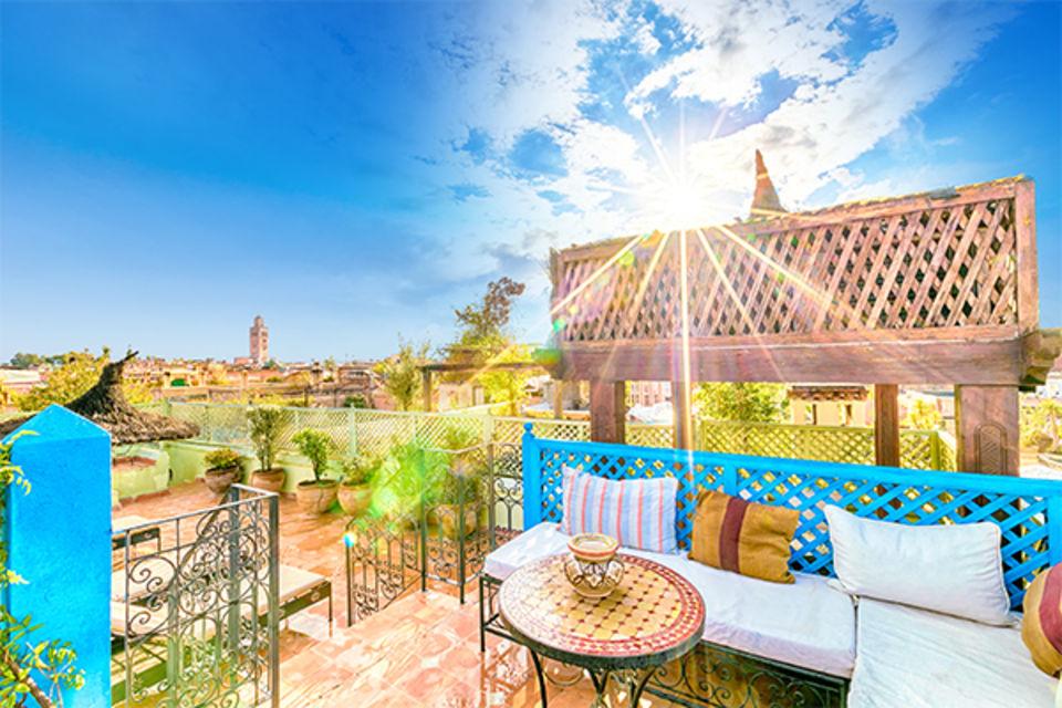 Riad Dromadaire Bleu Marrakech Maroc