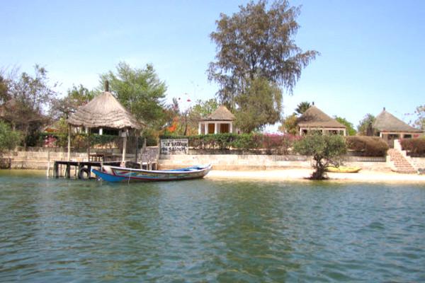 vue plage - Le Bazouk du Saloum Hôtel Le Bazouk du Saloum3* Dakar Senegal