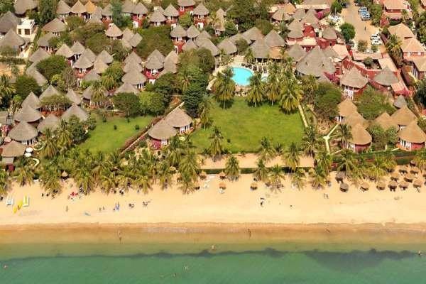 Vue du ciel, ensemble de l'hôtel - Royam Hôtel Royam4* Dakar Senegal