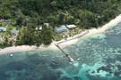 2 iles : Mahé et Praslin : L'habitation Cerf Island et Palm Beach