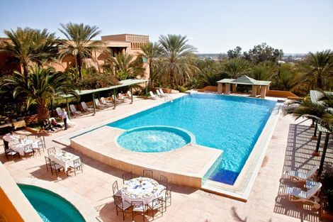 Tunisie-Tozeur, Hôtel Ksar Rouge 4*